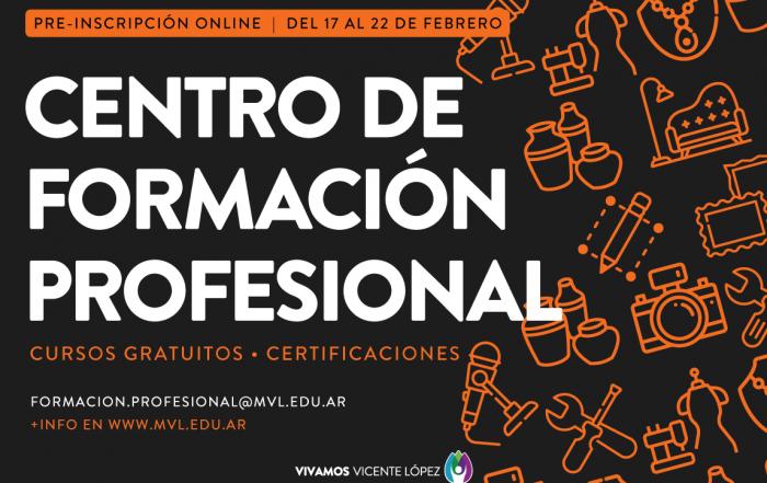 #Pre-Inscripción 2021 ► Centro de Formación Profesional