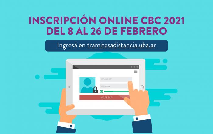 #CBC ► Inscripción online 2021