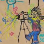 Armado de mural de Taller de Cine