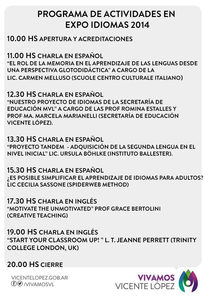 PROGRAMA DE ACTIVIDADES EXPO IDIOMAS