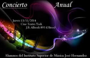 Invitacion concierto alumnos