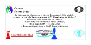 2015  INVITACION AJEDREZ MARZO
