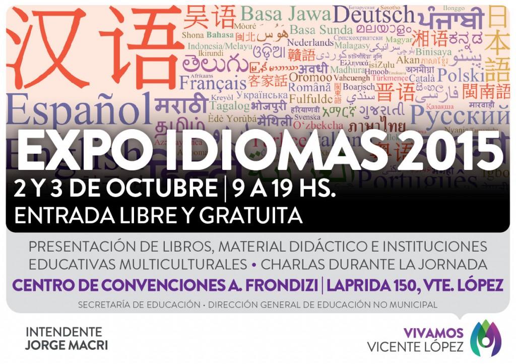 FLYER EXPO IDIOMAS 2015