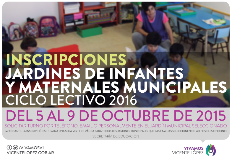 Inscripci n a los jardines municipales 2016 mvl edu ar for Inscripcion jardin maternal 2016 caba