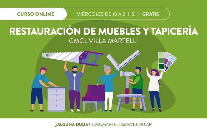 #Curso ► RESTAURACIÓN DE MUEBLES Y TAPICERÍA