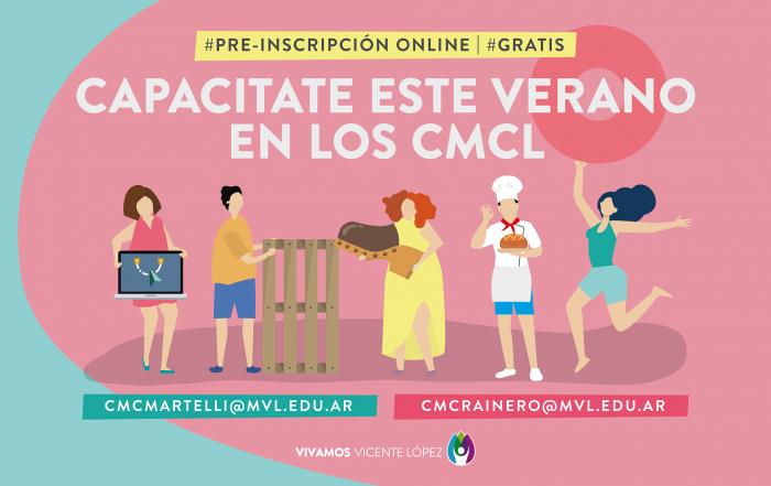 #CapacitateEnVerano ► ¡Cursá en los CMCL!