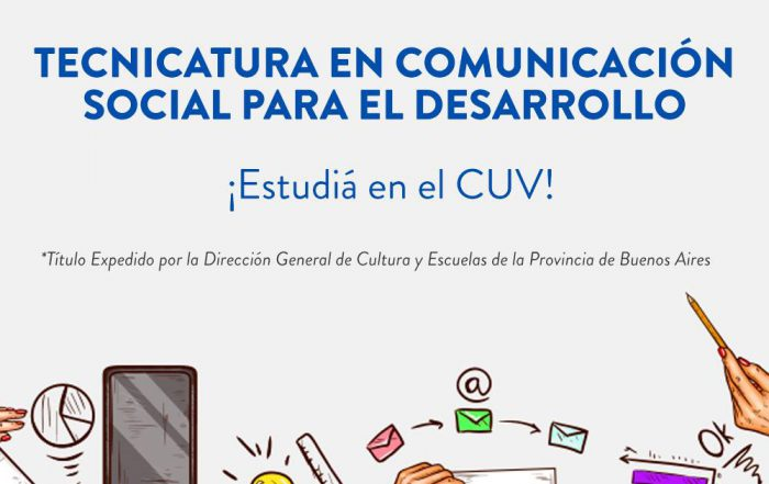Inscripción a la Tecnicatura Superior en Comunicación Social para el Desarrollo