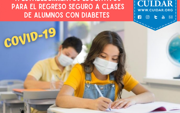 #CUIDAR ► Regreso seguro a clases de estudiantes con diabetes ante el COVID-19