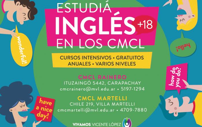 ¡Estudiá #Inglés en los CMCL!