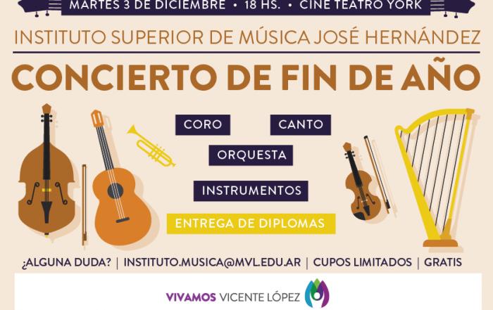 #Concierto de fin de año ► Instituto de Música José Hernádez