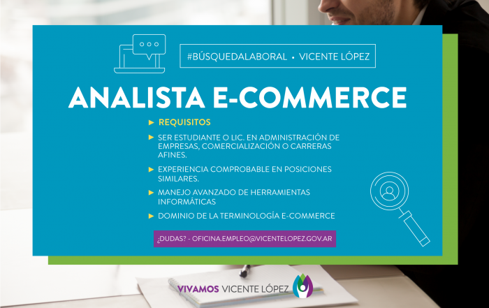 #BúsquedaLaboral ► ANALISTA E-COMMERCE