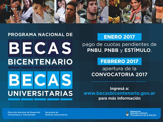 Se abren las inscripciones para las Becas Bicentenario 2017