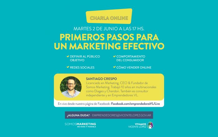 #CharlaOnline ► Primeros pasos para un marketing efectivo