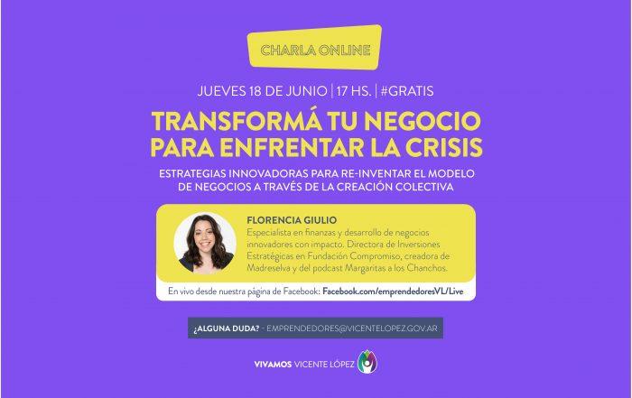 #CharlaOnline ► Transformá tu negocio para enfrentar la crisis