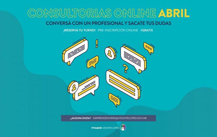 #ConsultoríasOnline ► [ ABRIL ]