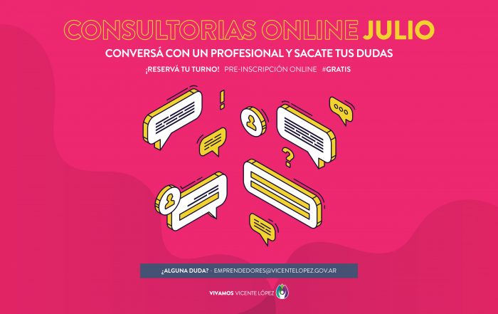 #Consultorías ► [ JULIO ]
