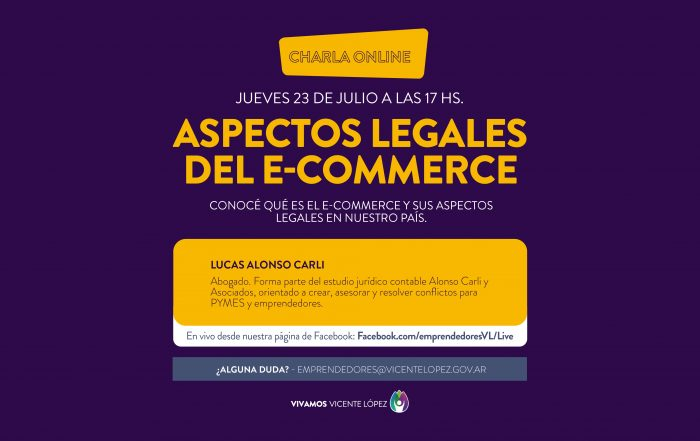 #Charla ► Aspectos legales del e-commerce