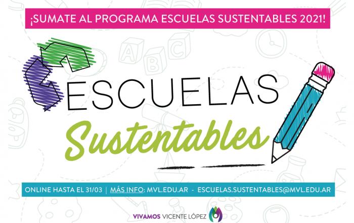 ¡Sumate a #EscuelasSustentables en 2021!