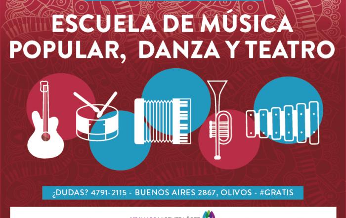 #InscripciónAbierta ► ESCUELA DE MÚSICA POPULAR, DANZA Y TEATRO