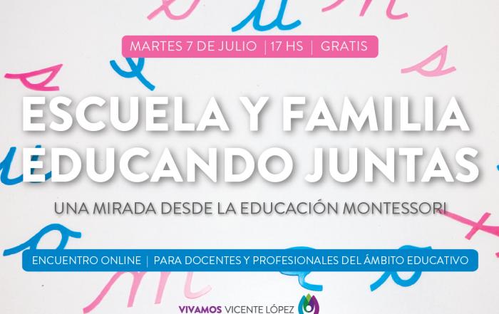 #Taller ► Escuela y Familia hoy - una mirada desde la educación Montessori