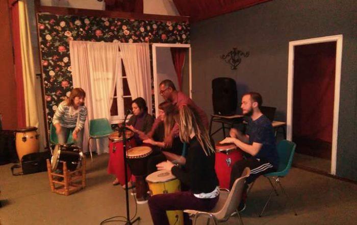 Clínica de percusión junto a Marco Oyaga