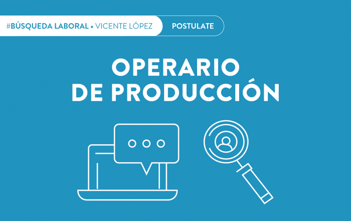 #BúsquedaActiva ► Operario de Producción