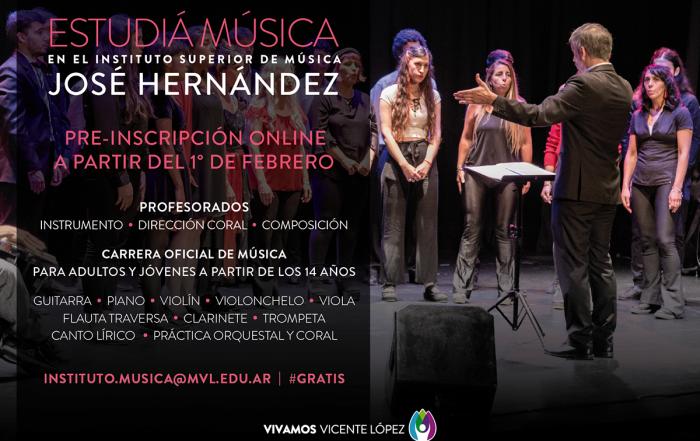 #Pre-inscripción2021 ► INSTITUTO SUPERIOR DE MÚSICA JOSÉ HERNÁNDEZ