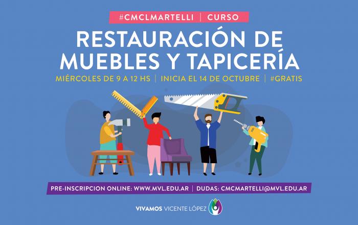 #Pre-InscripciónCMCLMartelli ► RESTAURACIÓN DE MUEBLES Y TAPICERÍA