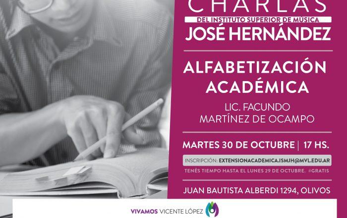 #Charla  |   Alfabetización académica
