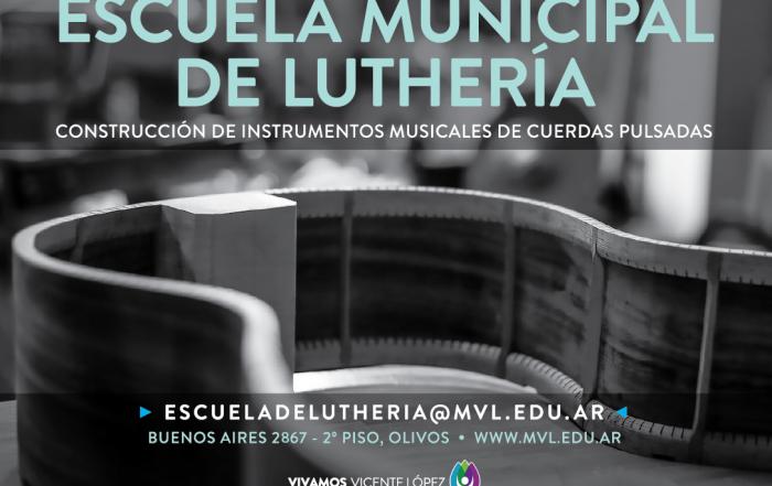 [ #Pre-Inscripción online ] ► ESCUELA DE LUTHERÍA
