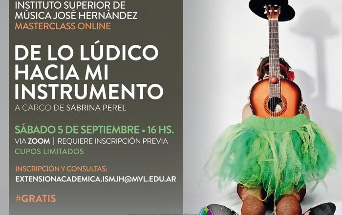 #MasterclassOnline ► DE LO LÚDICO HACIA MI INSTRUMENTO