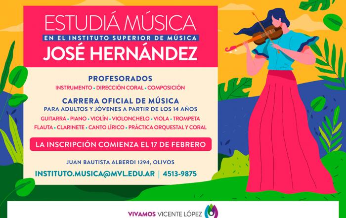 #Pre-Inscripción2020 ► INSTITUTO SUPERIOR DE MÚSICA JOSÉ HERNÁNDEZ