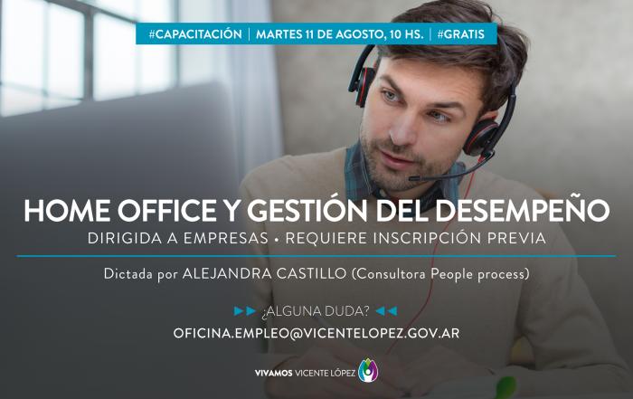 #Capacitación ► HOME OFFICE Y GESTIÓN DEL DESEMPEÑO