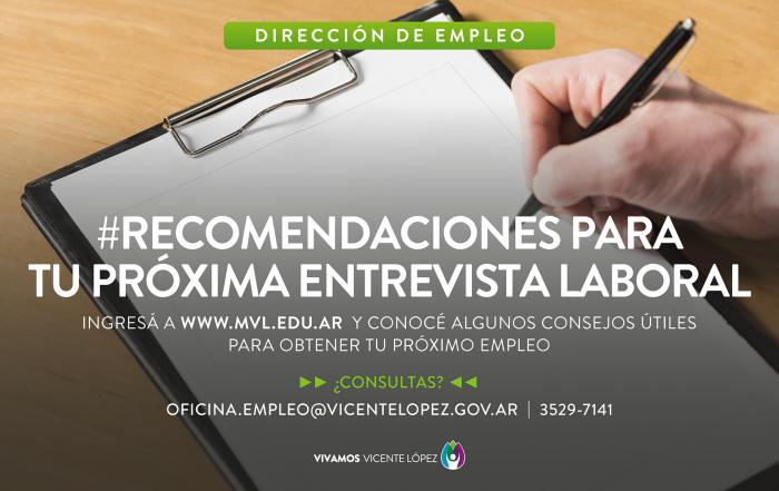 #Recomendaciones para tu próxima entrevista laboral