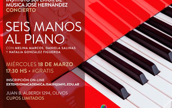 #Concierto [ SUSPENDIDO ] ► Seis manos al piano