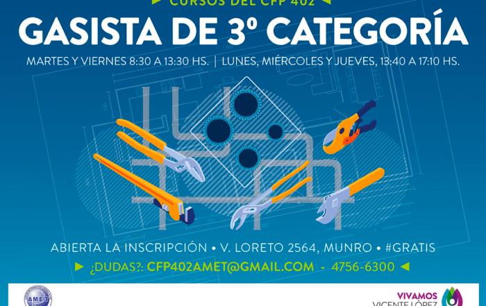 #CURSO ► Gasista de 3° categoría