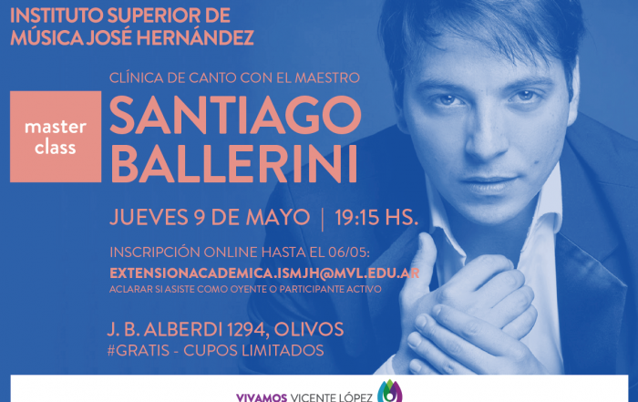 #MasterClass   |  Canto con Santiago Bellini
