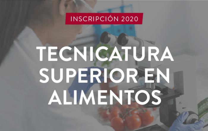 #INSCRIPCIÓN ► Tecnicatura Superior en Alimentos