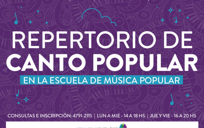 #Curso ► Repertorio de canto popular