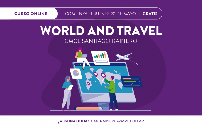 #Pre-inscripción ► CURSO WORLD AND TRAVEL #CMCL RAINERO
