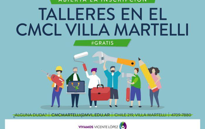 Abierta la inscripción – #TalleresCMCL Villa Martelli