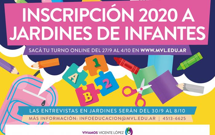 #Pre-Inscripción 2020 ► Jardines de Infantes Municipales