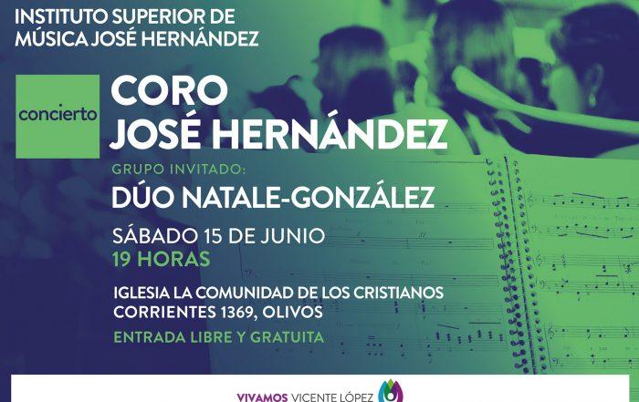 Coro José Hernández  junto al Dúo Natale - González