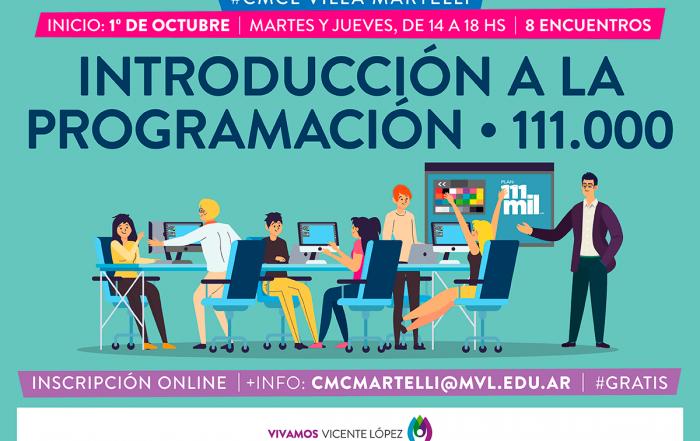 #CMCLVillMartelli ► Introducción a la PROGRAMACIÓN/111.000