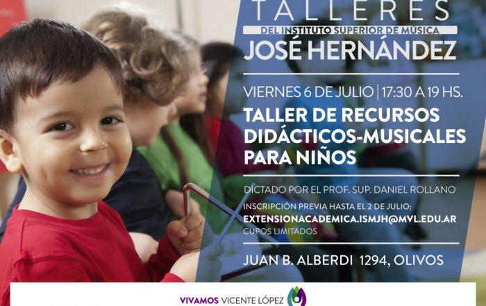 #Taller   Recursos didácticos musicales