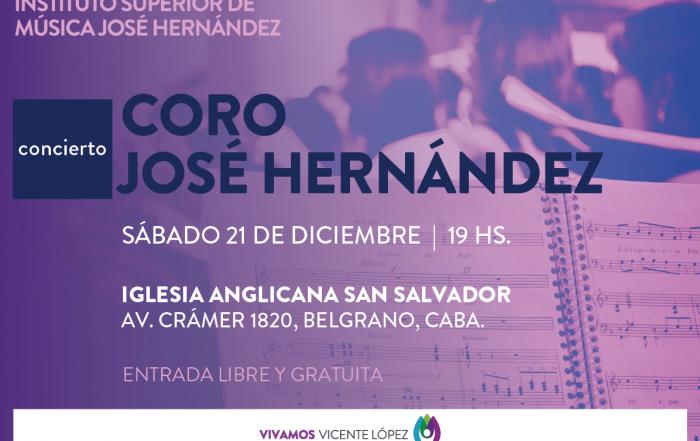21/12 ► ¡Vení al último concierto del Coro José Hernández!