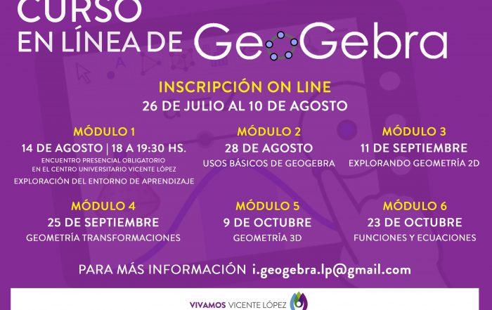 Curso en línea: GeoGebra como herramienta para aprender y enseñar matemática en forma dinámica