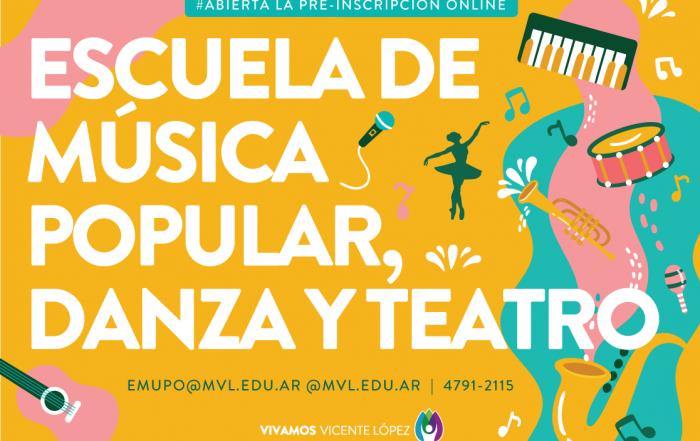 #CuposDisponibles ► ESCUELA DE MÚSICA POPULAR, DANZA Y TEATRO