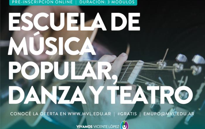 #Inscripción2021 ► ESCUELA DE MÚSICA POPULAR, DANZA Y TEATRO
