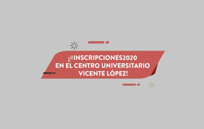 #Inscripción2020 ► ESTUDIÁ EN EL CUV